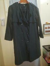 H&M trench coat size 16 color black