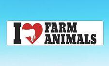 Prank Car Bumper Magnet ~ I Love Farm Animals ~  Secret Santa / Stocking Filler