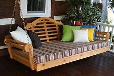 "Marlboro 75"" Cedar Porch Swing Bed *Unfinished Cedar* Fits Single Mattress"