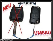OPEL SIGNUM VECTRA ASTRA C UMBAU KIT auf KLAPPSCHLÜSSEL BART ROHLING TYPc80 3T.