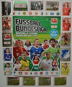 Topps Bundesliga 2012/2013 1/2/5/10/20/30/50 oder 100 Sticker aussuchen 12/13
