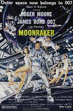 Moonraker Roger Moore vintage cult poster print