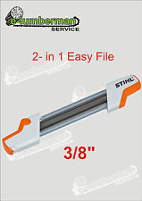 "GENUINE STIHL 2 in 1 Easy File Chainsaw Sharpening 5.2mm  For 3/8"" Chain"