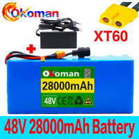 48V 28Ah ebike lithium ion battery pack 1000W high power + charger