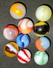 Lot of 10 Vintage PELTIER marbles  0001