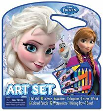 Art Disney Frozen Pad Paint Child Draw Tote Activity Set Kit Pack Craft Case
