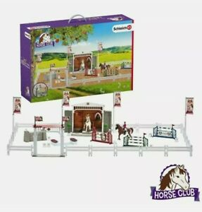 Schleich Toy Horse Bundle 42338 Pony Riding Club Big Show PlaySet Jumping Horses