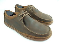 Clarks 1825 Men's Size 10.5 M Brown Oiled Leather Casual Lace Ups Oxfords Shoes