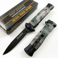 NEW! Tac-Force Special Issue Camo Tactical Stiletto Spring-Assisted Knife
