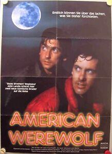 An American Werewolf in London German movie poster A1 David Naughton John Landis