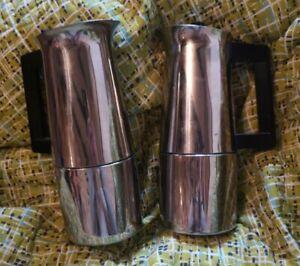 Alfa Per Alimenti Inox Stove Top Moka Pot Coffee Maker & Milk Warmer ~ Italy