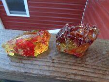 New listing Glass Rock Slag Pretty Ruby Red/Yellow 1.14 lbs Ww60 lbs Rocks Landscaping Aqua