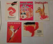 Moulin Rouge Lido Gruau Michou Folies Bergere Paradis Latin 5 carte postale