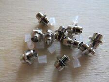 10 x METAL CHROME LED HOLDER BEZELS 3MM CLIP PANEL MOUNT LIGHT LAMP WARNING