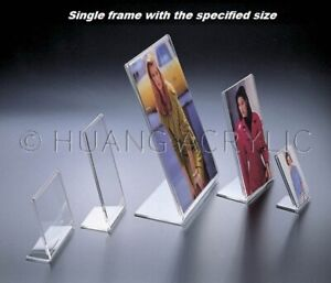 """Huang Acrylic Vertical L-Shaped 8"""" x 10"""" Frame (3028-810)"""