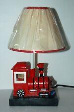 WONDERFUL VINTAGE  KIDS RED LOCOMOTIVE TABLE LAMP