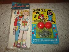 New Old Stock Double Ball & Jack Set & My Sweet Heart Stand-Up-Doll W/Cutouts!