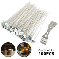 "100pcs Candle Wicks 6"" COTTON Core Candle Making Supplies Kits Ship US"