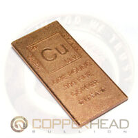 1 Pound lb (16 oz) Element Design Copper Bullion Bar Flat Rounded Edge 5-8-10-20
