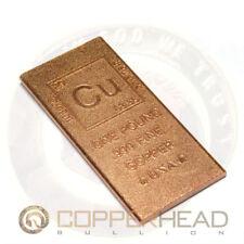 1 Pound lb (16 oz) Element Design Copper Bullion Bar Flat Rounded Edge 5-8-10-20