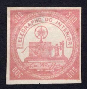 Brazil 1870 telegraph stamp Yvert#2 MH CV=150€