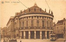 B3945 Belgium Anvers La Theatre Royal Old tramway tram  front/back scan