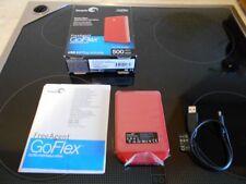 Seagate GoFlex Externe Festplatte 500 GB USB 2.0 Farbe rot neuwertig
