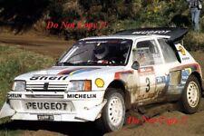 Juha Kankkunen Peugeot 205 Turbo 16 E2 Rally of New Zealand 1986 Photograph 4