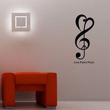 AMORE Pace Music-Wall Art Decalcomania Adesivi Di Qualità Nuovo