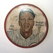 1962 Salada Tea Junket Baseball Coin  #128 George Altman Chicago Cubs