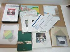Apple 2 huge lot manuals + pacific data 103 fonts cartridge