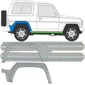 Daihatsu Rocky 1985-1993 2x Radlauf Reparaturblech + 2x Schweller / Satz