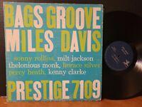 MILES DAVIS - BAGS GROOVE Prestige Mono RVG Sonny Rollins Horace Silver Vinyl LP