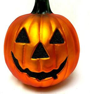 Mercury Glass Halloween Jac O Lantern Pumpkin Table Top