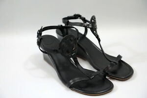 #87 Tory Burch 'Miller' Wedge Sandals Size 9   RETAIL $268
