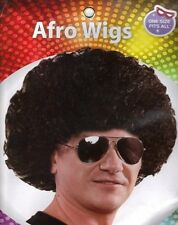 Mens / Ladies / Kids Pop Black Afro Wig Accessory for 70s 80s Afro Fancy Dress