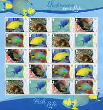 British Virgin Islands BVI 2017 MNH Underwater Life Pt 2 Fish 20v M/S Stamps