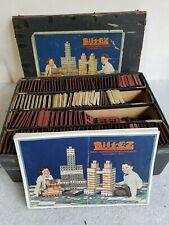 New ListingBilt Ez # D vintage 1924 Scott Mfg. Co. original antique metal toy building set