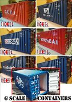 4 RANDOM G SCALE SHIPPING CONTAINER 45mm GAUGE 20' CARGO FREIGHT CONTAINERS