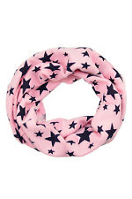Boys Girls Neck Baby Kids Star Toddlers Knitted Circle Scarf Shawl Warmer Pink