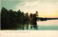 Vintage Postcard - Un-Divided A Long The Shore Lake George New York NY #4260