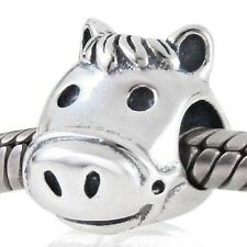 Horse Charm Bead 925 Sterling Silver