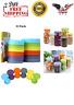 12 Pack Plastic Mason Jar Lids Ball Kerr Storage Screw Round Caps Anti-Scratch