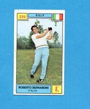 CAMPIONI SPORT 1969-70-PANINI-Figurina n.235- BERNARDINI -ITALIA-GOLF-Rec