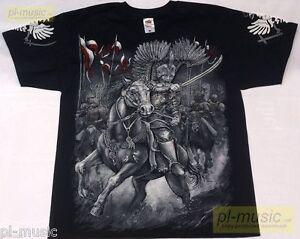 t-shirt POLISH WINGED HUSSARS / HUSARIA-POLSKA/TE CUM ET PRO TE www.pl-music.net