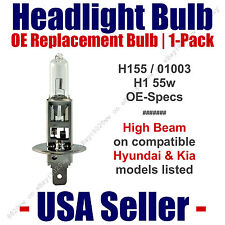H1 Headlight Bulb High Beam OE Replacement fits Select Hyundai/Kia Listed 01003