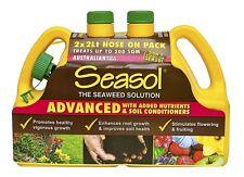 Seasol ADVANCED HEALTH TONIC LIQUID 2x2L Hose On, Enhances Root Growth*Aust Made