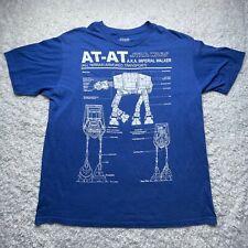 Star Wars Shirt Adult Extra Large AT-AT Royal Blue Soft Heather Short Sleeve D4
