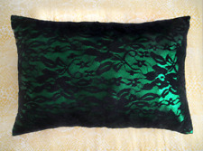 Sparkling pillow green with black lace Ameynra home decor 16x11 Modern Style New