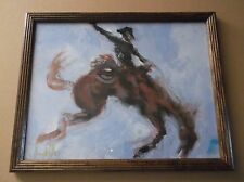 "Original Terry Ritter Western Art,""Ride Em Cowboy"", 2013, Acrylic on Canvas"